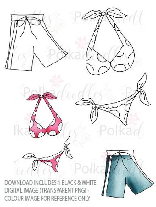 Winnie Starfish/Sandcastles - Bikini/Shorts DOWNLOAD
