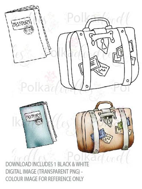 Winnie Starfish/Sandcastles - Luggage/Suitcase/Passport DOWNLOAD