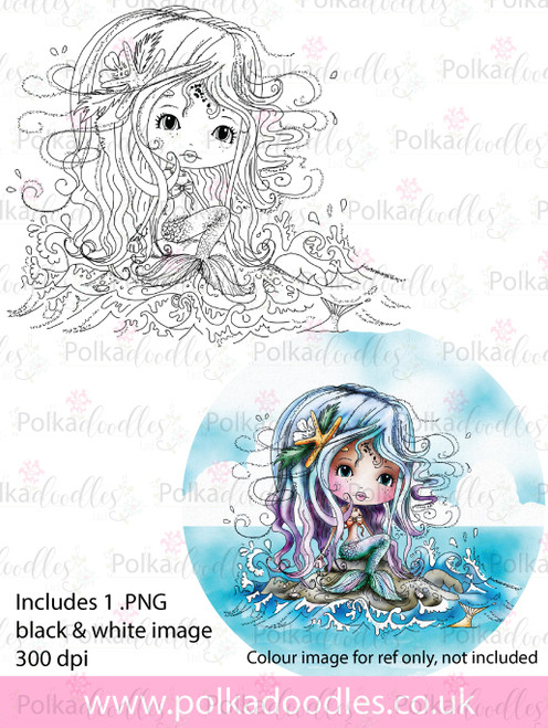 Meribelle Mermaid Rock It- digital craft stamp download