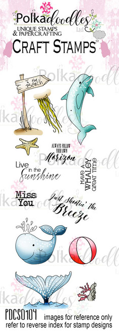 Oceania/Beach/Nautical/Sea/Ocean Clear Stamp set