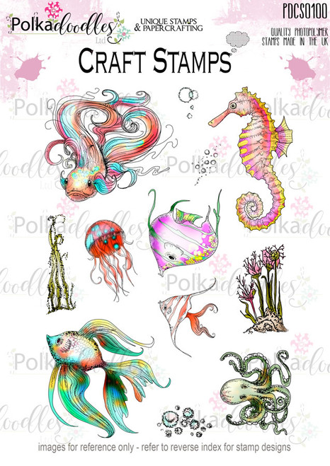 Tropical Underworld Fish/ Ocean Clear Stamp set