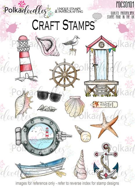 Tropical Ocean Beach/Sea/Nautical Clear Stamp set