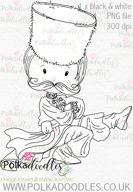 Cossack Russian Dancer 2 - Digital Stamp Download