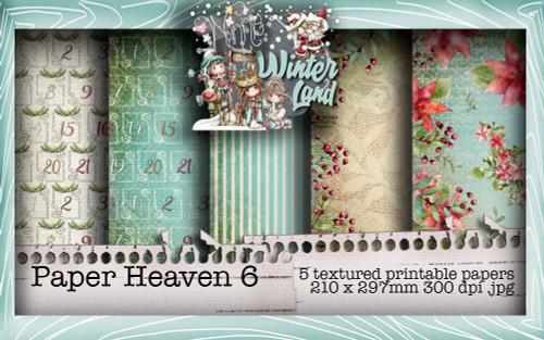 Winnie Winterland - Paper Heaven 6 digital craft papers download