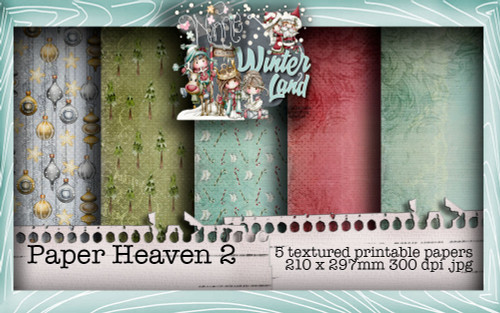 Winnie Winterland - Paper Heaven 2 digital craft papers download