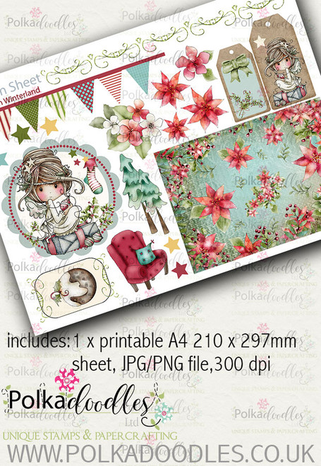 Winnie Winterland - Design Sheet 9 digital craft papers download