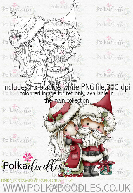 Winnie Winterland - Mr & Mrs Claus digital craft stamp download