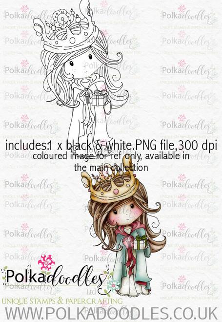 Winnie Winterland - Bearing Gifts digital craft stamp download