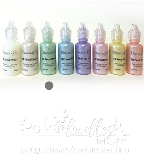 Pastel Green - Dovecrafts 3D Pearl Effects Glue 20ml