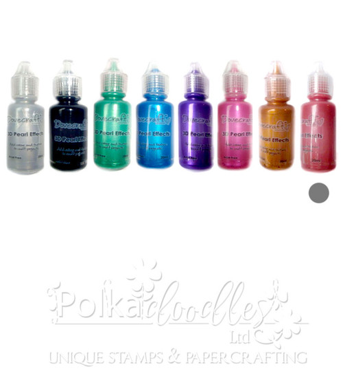 Pearl Red - Dovecrafts 3D Pearl Effects Glue 20ml