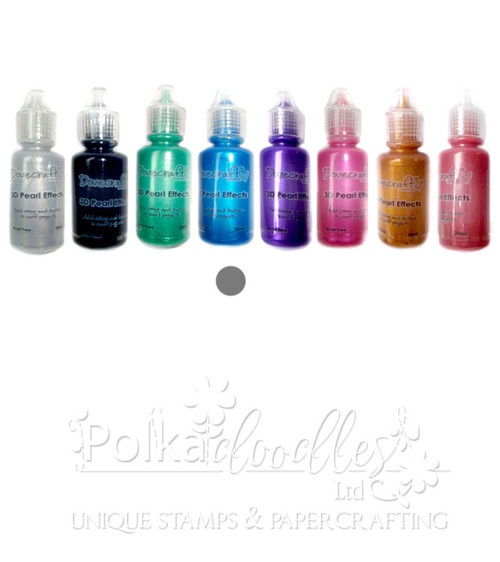 Pearl Bright Blue - Dovecrafts 3D Pearl Effects Glue 20ml