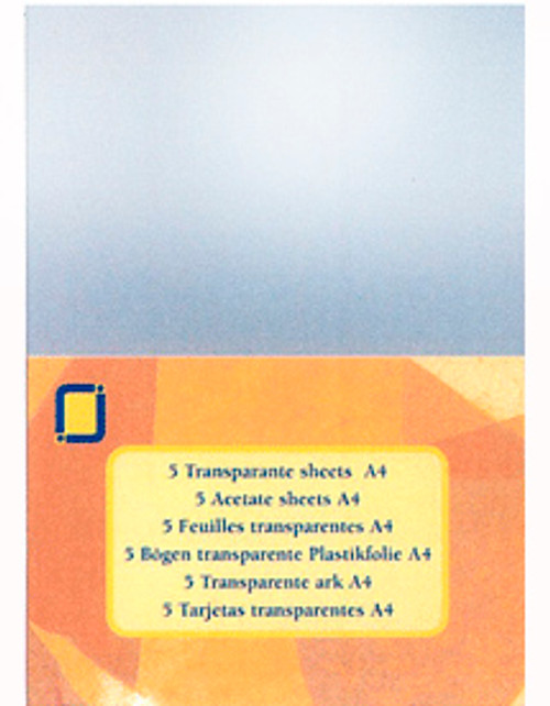 A4 Acetate Sheets - 5 pack