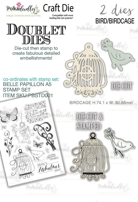 Birdcage & Bird 'DOUBLET' 2 set Craft Cutting dies