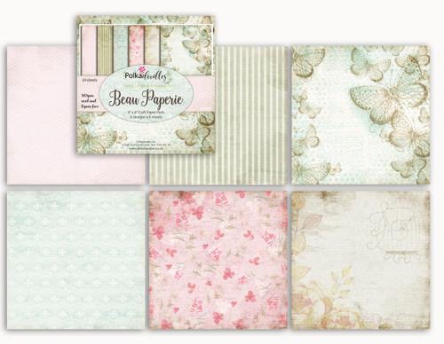 "Belle Papillon 6 x 6"" Paper Pad cards/scrapbooking"