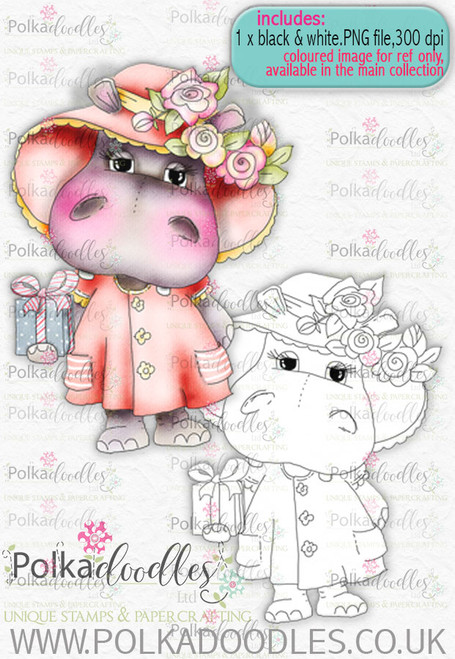 Helga Hippo For You - download digi stamp