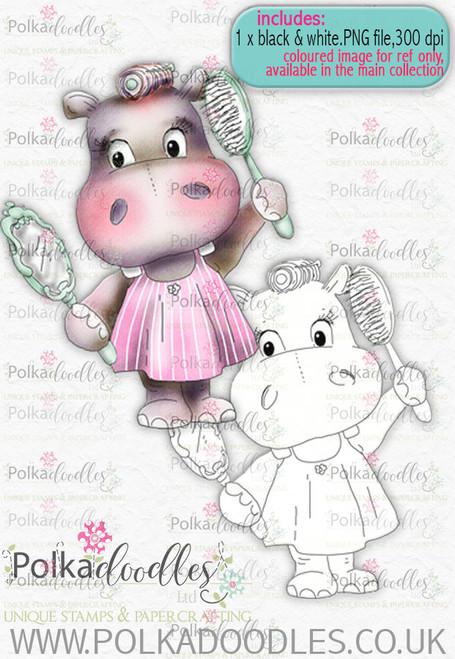Helga Hippo Beauty Day- download digi stamp