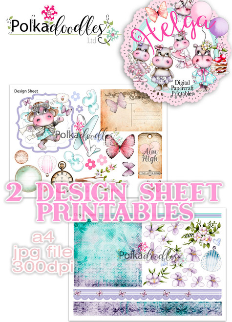 Helga Hippo - Design Sheet 1 Duo DOWNLOAD