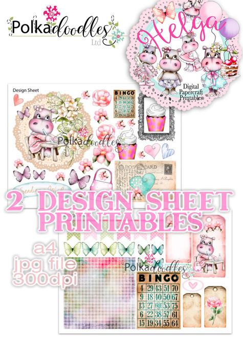 Helga Hippo - Design Sheet 3 Duo DOWNLOAD