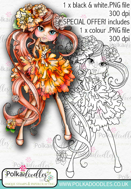 Marigold, The Darling Buds - Digital Craft Digi Stamp DOWNLOAD