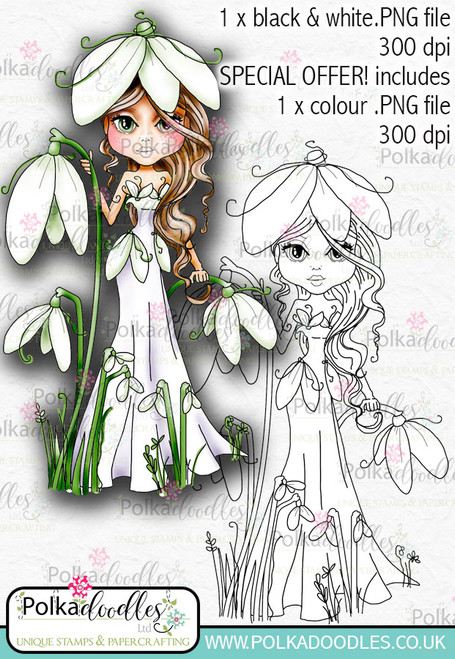 Darling Buds Snowdrop digital craft download.