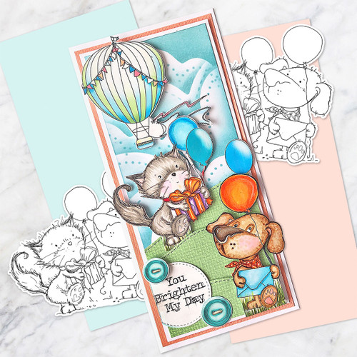Party Friends - Horace & Boo download printable stamp