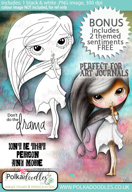 Ula Don't Listen- Life Journal craft digi download