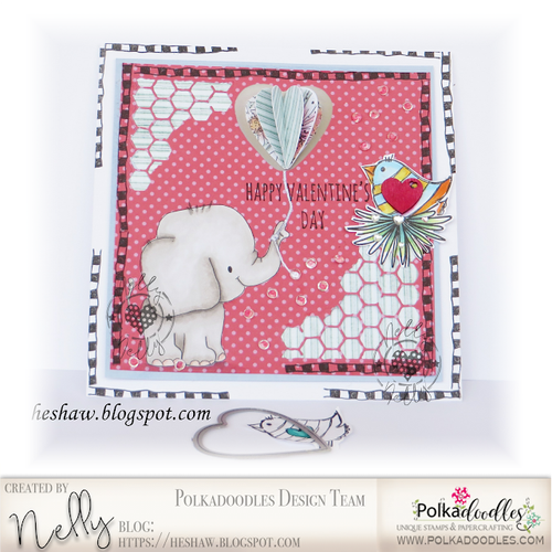 Giant Hugs Elephant...Craft Digital stamp download with FREE Sentiment