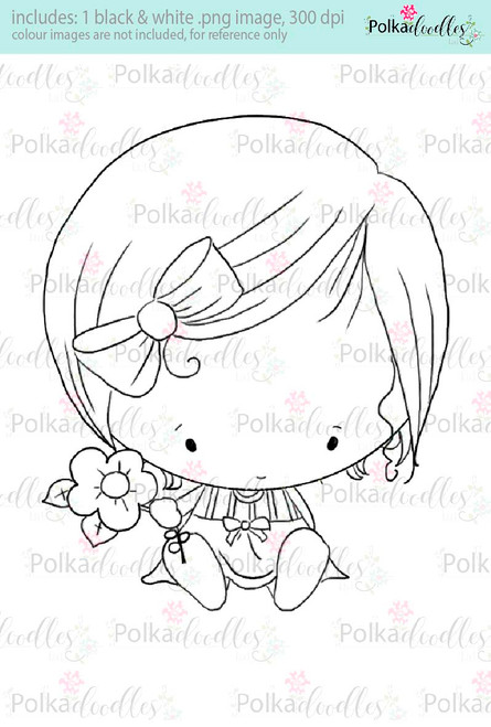 Cutiepie digi stamp - Lil Miss Sugarpops craft digi download