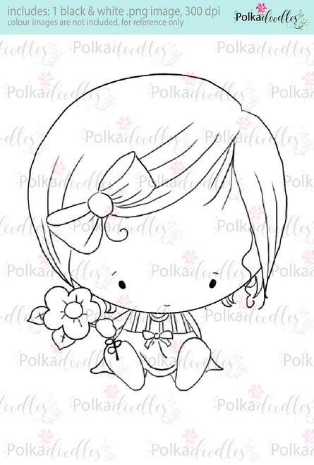 Cutiepie digi stamp - Lil Miss Sugarpops craft digi download