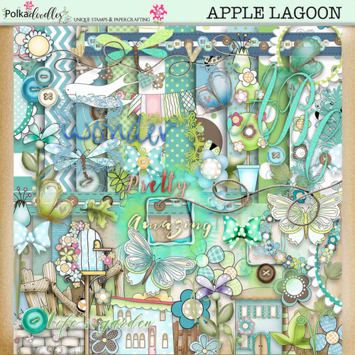 Apple Lagoon - digiscrap kit download