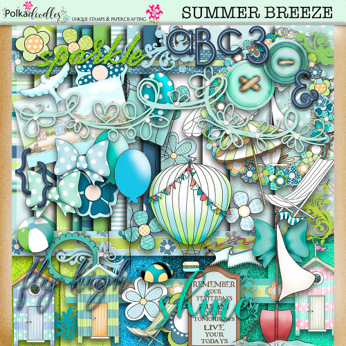 Summer Breeze - digiscrap kit/craft printable download