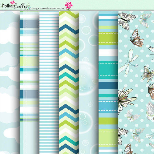 Summer Breeze - digiscrap paper printable download