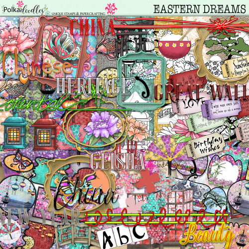 Eastern Dreams download - digiscrap kit/craft download