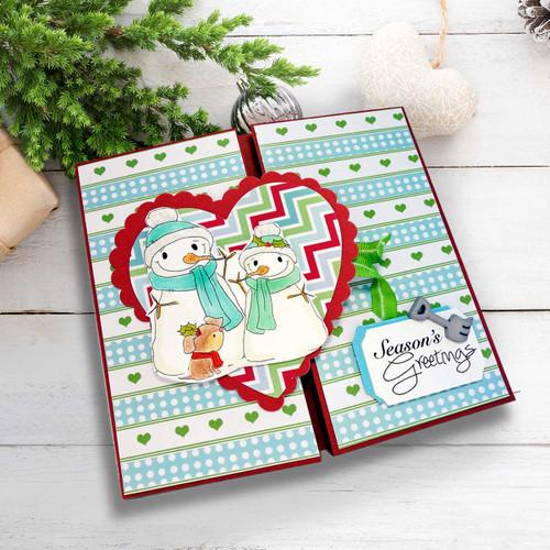 Cute Snowmen/Dog Digital Stamp download - Winnie White Christmas printables...Craft printable download digital stamps/digi scrap