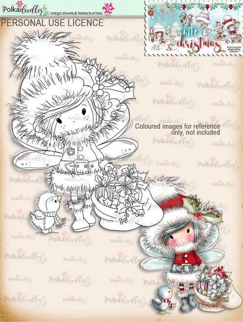 Santa Gifts - Digital Stamp download. Winnie White Christmas printables. Craft printable download digital stamps/digi scrap