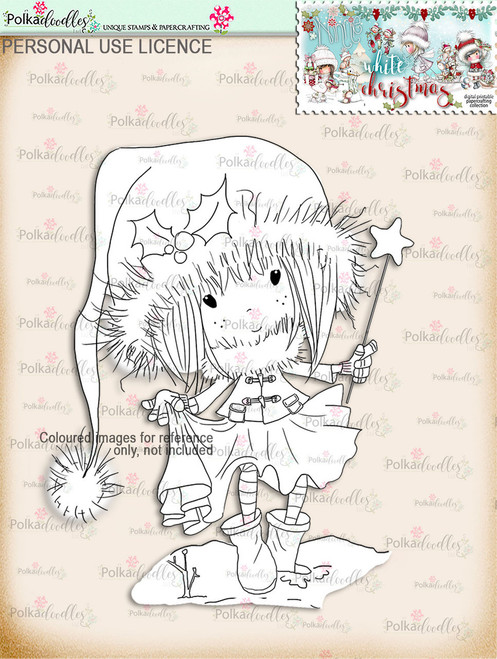 Watch your Step - Digital Stamp download. Winnie White Christmas printables.Craft printable download digital stamps/digi scrap