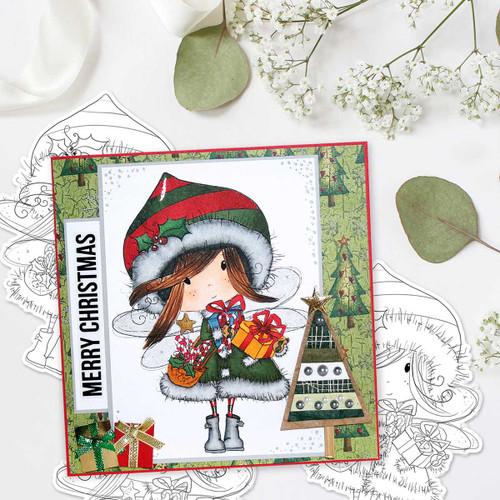 Fairy Gifts - Digital Stamp download. Winnie White Christmas printables.Craft printable download digital stamps/digi scrap