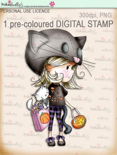 Winnie Wednesday Trick or Treat - Digital Stamp download printable clipart. Craft printable download digital stamps/digi scrap