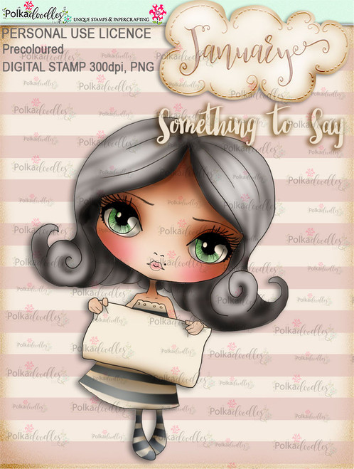 Something to Say - January. Coloured Craft digi download