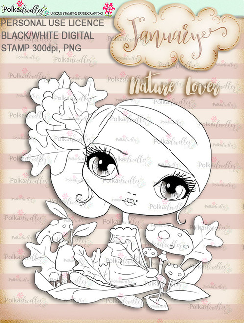 Nature Lover - January. Craft digi download