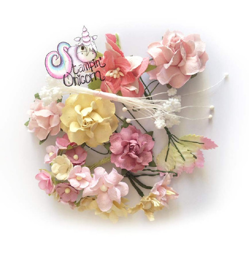 Pretty Paper Flowers pack by Stampin Unicorn