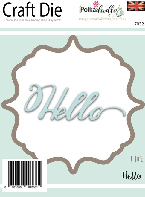 Hello Sentiment -  Craft Cutting die set