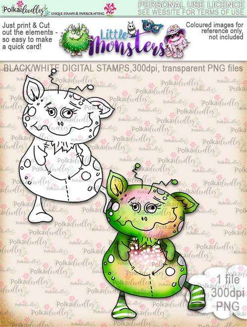 Little Monsters Manny digi stamp download