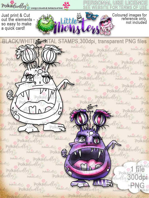Little Monsters Verocia digi stamp download