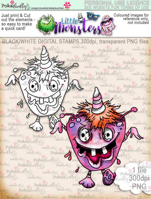 Little Monsters Scarymayree digi stamp download