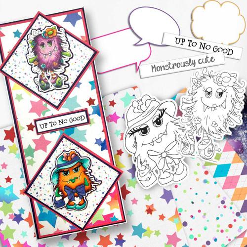 Little Monsters Scarygloria digi stamp download