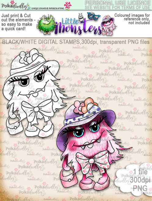 Little Monsters Scarygloria digi stamp download