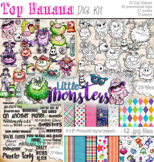 Little Monsters digi kit download - Top Banana deal