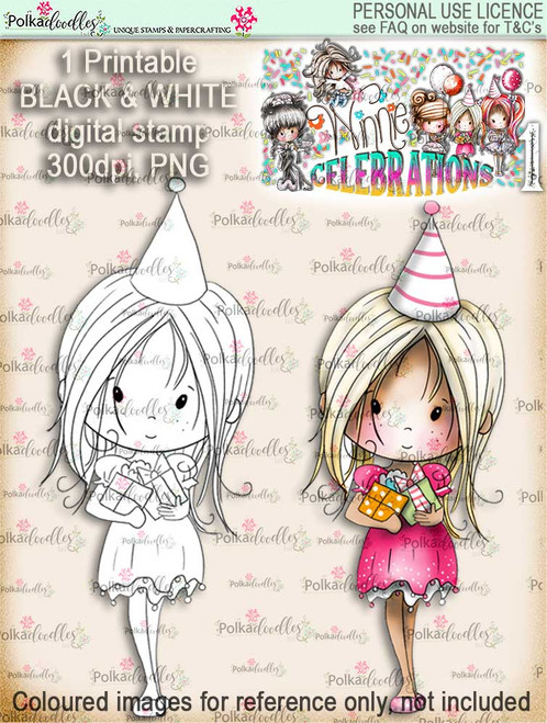 Winnie Celebrations 1... Special Day digi stamp printable download