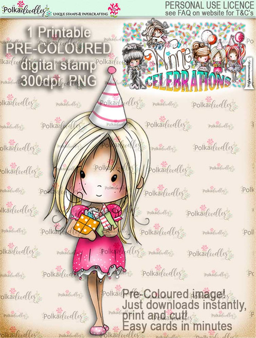 Winnie Celebrations 1... Special Day COLOUR digi stamp printable download
